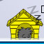 black-puffle-yellow-house